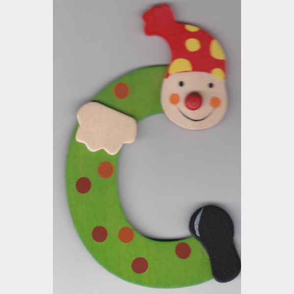 C Lettre Clown Vert