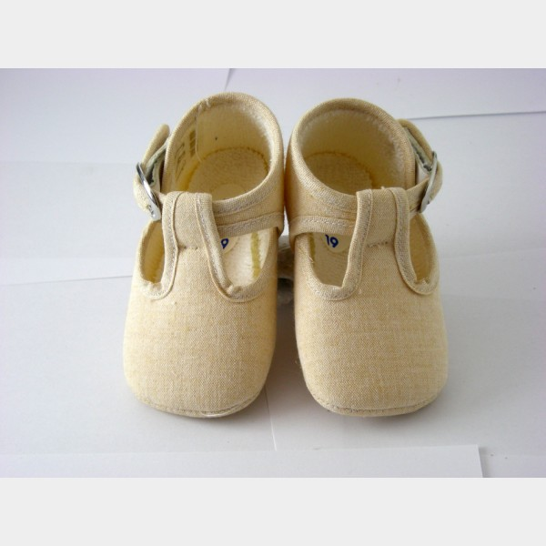 Chaussures cuquito en toile chambray beige