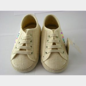 Chaussures Chicco en toile écrue