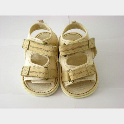 Chaussures Chicco sandalettes en toile écrue