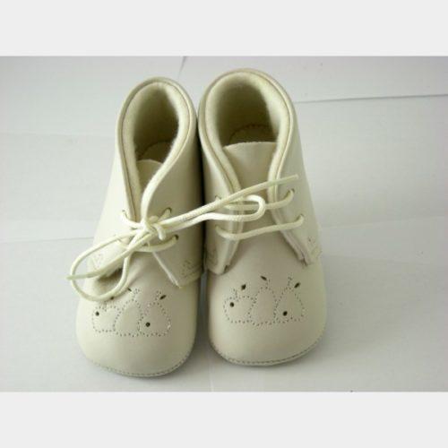 Chaussures cuquito en cuir souple écru