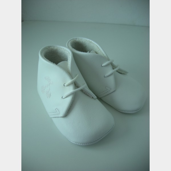 Chaussures souples blanches pour fille avec broderie