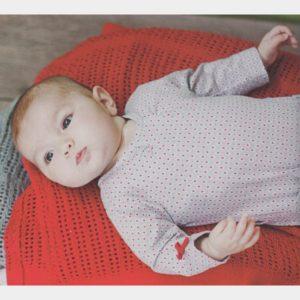 Pyjama fille gris et rouge