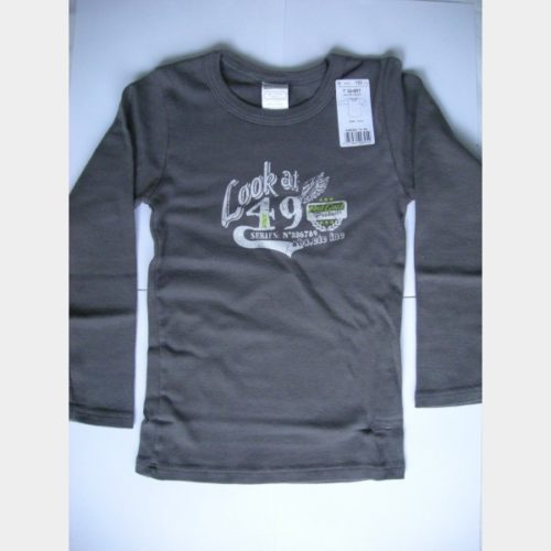 T-shirt taupe manches longues