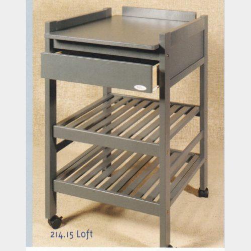 Table à langer en bois gris – La Maison de lEnfant