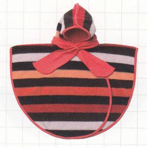 poncho boboo rouge stripes