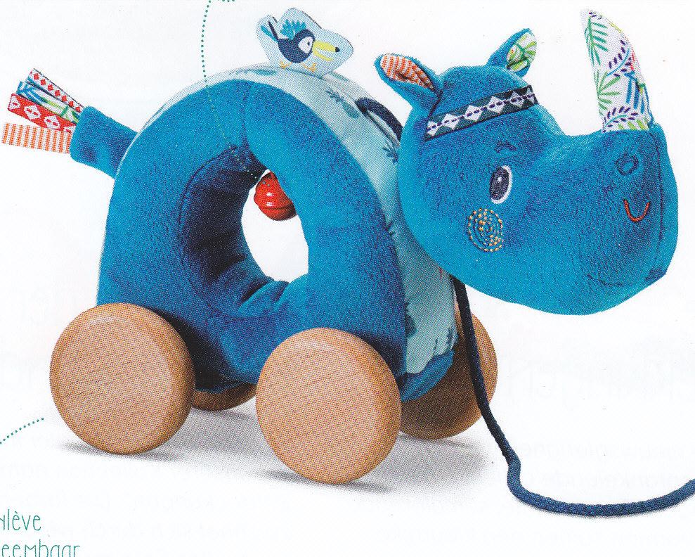 769e25abeabe1 Marius rhinocéros câlin à tirer Lilliputiens – La Maison de l Enfant