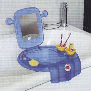 space lavabo bleu